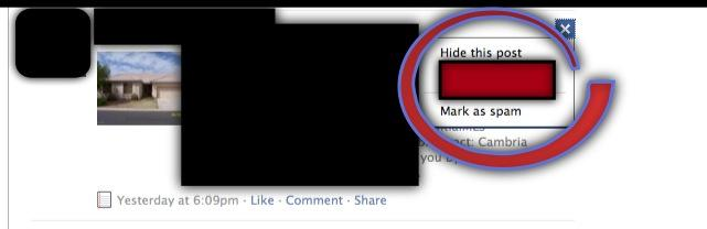 Remove REALTOR from facebook news feed