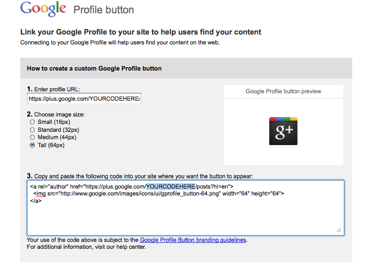 Add Google + Button To WordPress Website