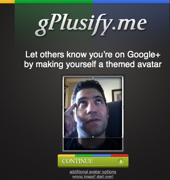 Upload G Plus Avatar