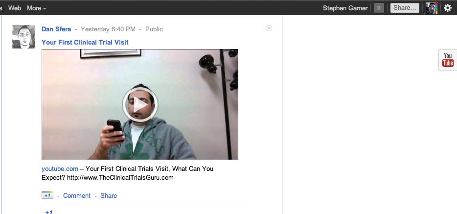 New On Google +