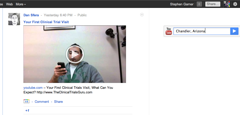 New Google + feature